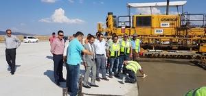 Vali Aktaş Kapadokya havalimanında incelemelerde bulundu