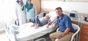 Başkan Duymuş'tan hasta ziyaretleri