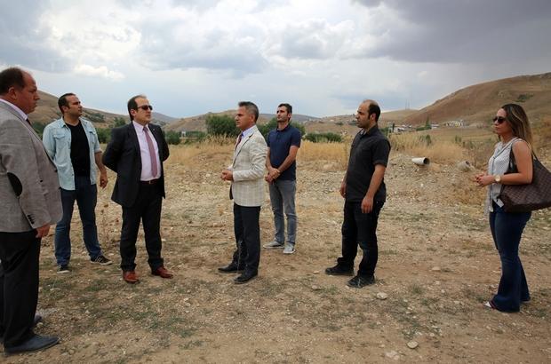 Vali Pehlivan, Kültür Hanın inşa edilmesi planlanan alanda incelemelerde bulundu
