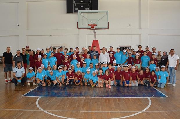 Dinar Belediyesi'nden, yaz spor okulu öğrencilerine büyük jest