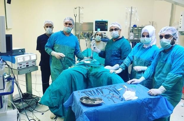 Batman'da laparoskopi yöntemi ile rahim alma ameliyatı yapıldı