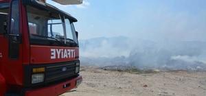 Ortaca'da çöplük yangını