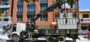 Erbaa Cumhuriyet Meydanına yer altı çöp konteyneri