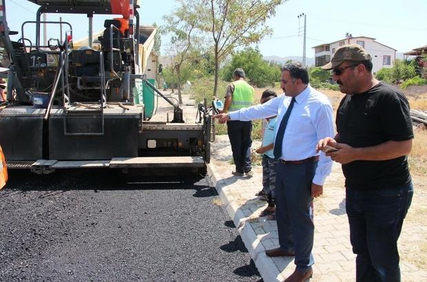 Develi Aygözme Mahallesi'nde asfalt çalışmaları sürüyor
