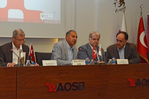 Lübnan heyeti, AOSB'de sanayicilerle işbirliği imkanlarını görüştü