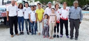 Burhaniyeli Muhsine şampiyonluğunu hemşehrileriyle kutladı