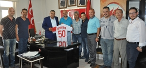 Nevşehirspor yönetimi MHP İl Başkanı Kaya'yı ziyaret etti