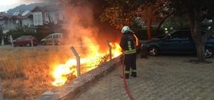 Boş arazide çıkan yangın büyümeden söndürüldü