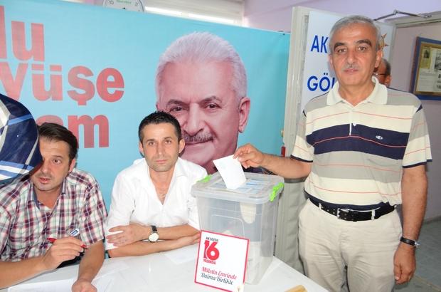 AK Parti Gölpazarı teşkilatı sandık başına gitti