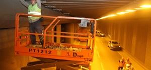 Seka Tüneli'ne yeni aydınlatma sistemi yapılıyor