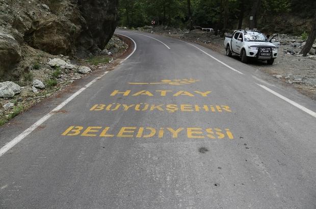 Erzin'de yayla yoluna beton asfalt