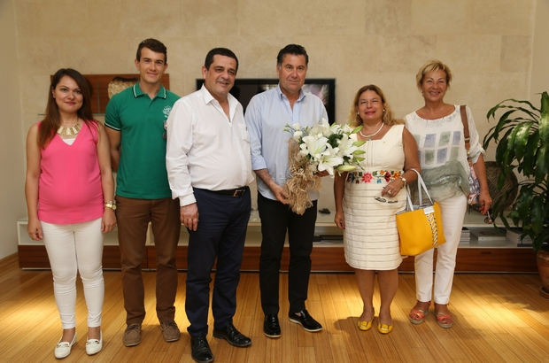Lions yöneticilerinden Başkan Kocadon'a ziyaret