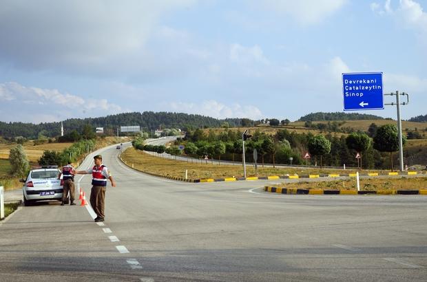 Jandarma'dan Devrekani kavşağına radarlı önlem