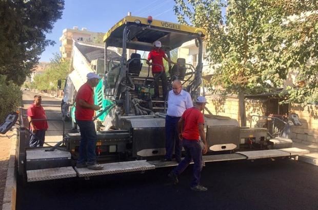 Başkan Kutlu asfalt çalışmasını inceledi