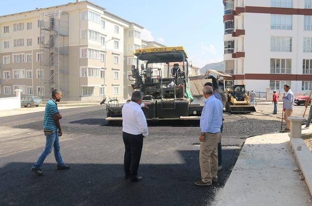 Başkan Özdemir'den asfaltlama çalışmalarına takip