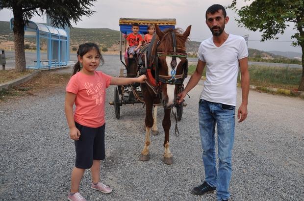 Simav'da çocukların fayton sefası