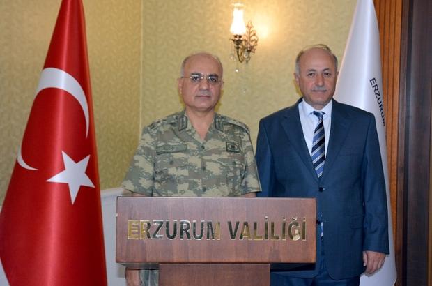 Tümgeneral Özoğlu'ndan Vali Azizoğlu'na veda ziyareti