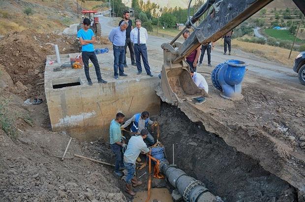 Epcim,içme suyu şebeke hattı imalatlarını denetledi