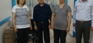 Lüleburgaz Devlet Hastanesine tekerlekli sandalye bağışı