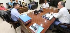 Başkan Gürlesin, kalınkozspor'u ağırladı