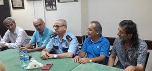 Giresun Emniyet Müdürü Uğur Öztürk'ten veda ziyareti