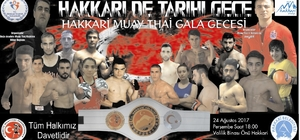 Hakkari'de Muay Thai gala gecesi