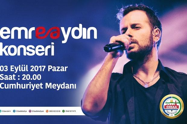 Erbaa Belediyesi Emre Aydın konseri düzenleyecek