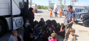 Sivas'ta otobüste 118 yabancı uyruklu yakalandı