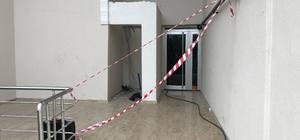 Tehlike yaratan bina mühürlendi