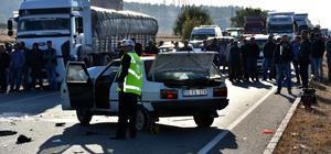 Amasya'da 2 otomobil çarpıştı: 1 ölü, 2 yaralı