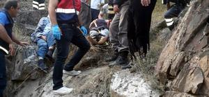Çankırı'da otomobil uçuruma yuvarlandı: 2 yaralı