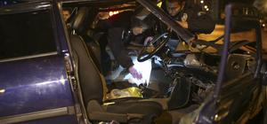 Hırsızlık şüphelileri polisten kaçarken kaza yaptı: 4 yaralı