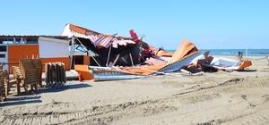 Karasu sahilindeki izinsiz yapılar yıkıldı