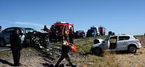 Konya'da iki otomobil çarpıştı: 2 ölü, 1 yaralı