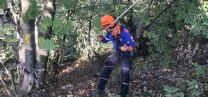 Orman gülü toplarken uçuruma düşen kişi kurtarıldı