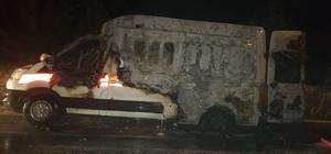 Burdur'da ambulansta yangın çıktı hasta öldü