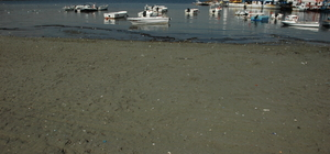 Tekirdağ'da deniz çekilmesi