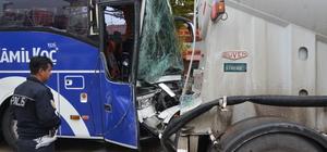 Kocaeli'de yolcu otobüsü ile tır çarpıştı: 13 yaralı