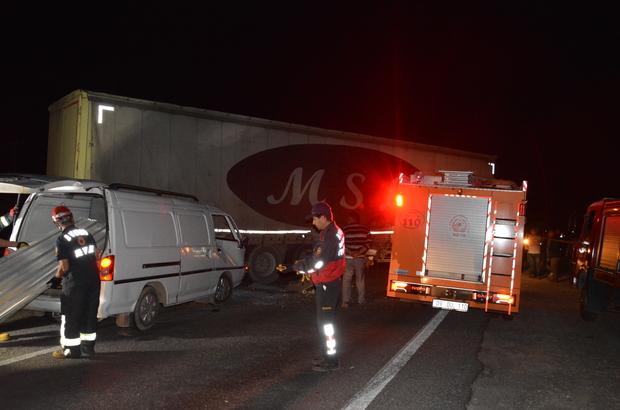 Aydın'da tırla minibüs çarpıştı: 1 ölü