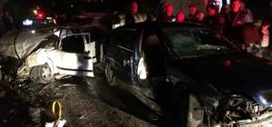 Denizli'de iki otomobil çarpıştı: 7 yaralı