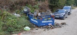 Sakarya'da tarım aracı devrildi: 1 ölü, 2 yaralı