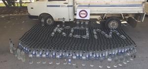 Mersin'de bin 364 şişe sahte içki ele geçirildi