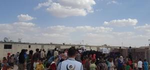 Azez'deki Suriyelilere sağlık taraması