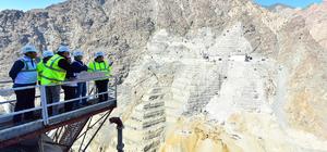Yusufeli Barajı'ndaki çalışmalar