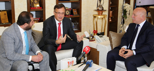Belarus'un Ankara Büyükelçisi Savinykh, Erzurum'da