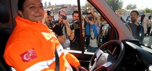 Edirne'nin kadın ambulans şoförü görev başında