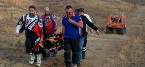 Motokros yaparken ayağı kırılan sporcuyu AFAD kurtardı