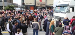 Bursa'da yol kapatma eylemi
