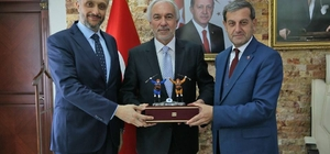 Simav Heyeti'nden, Başkan Saraçoğlu'na ziyaret