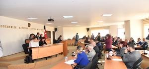 Başkan Kılıç, yapılan çalışmalar hakkında meclis üyelerini bilgilendirdi